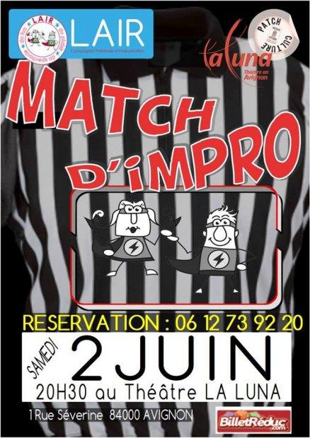 LAIR Match d'impro Affiche 2017/2018