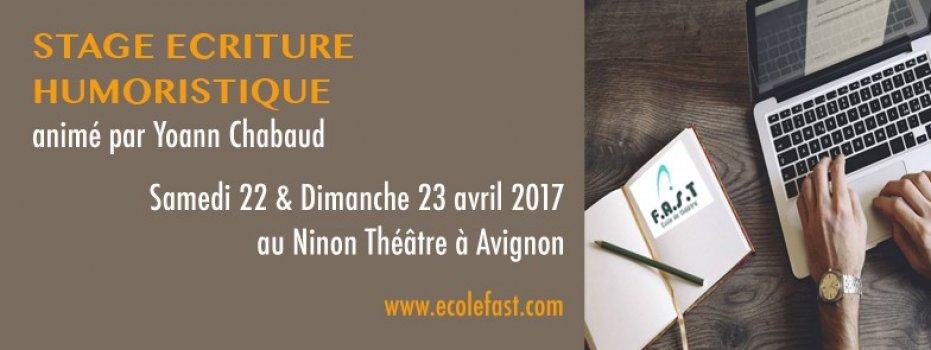 FAST Stage Ecriture Humoristique 22 et 23/04/2017