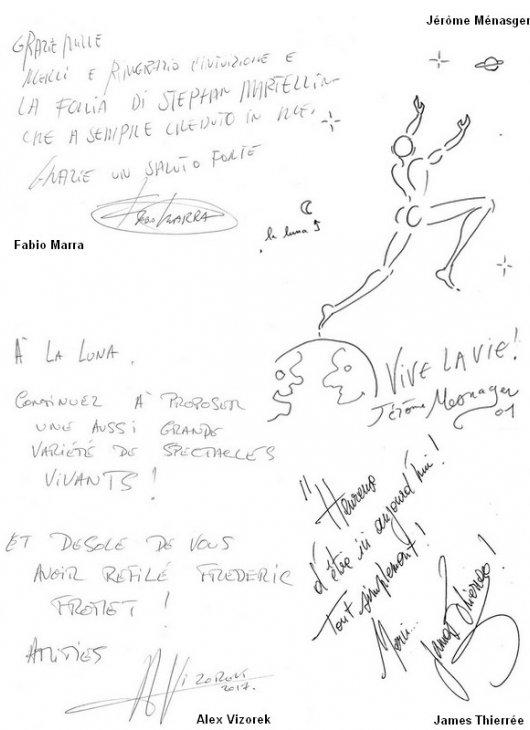 Livre d'or dédicaces page3