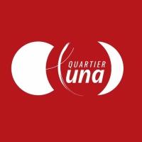 Quartier Luna logo fond rouge